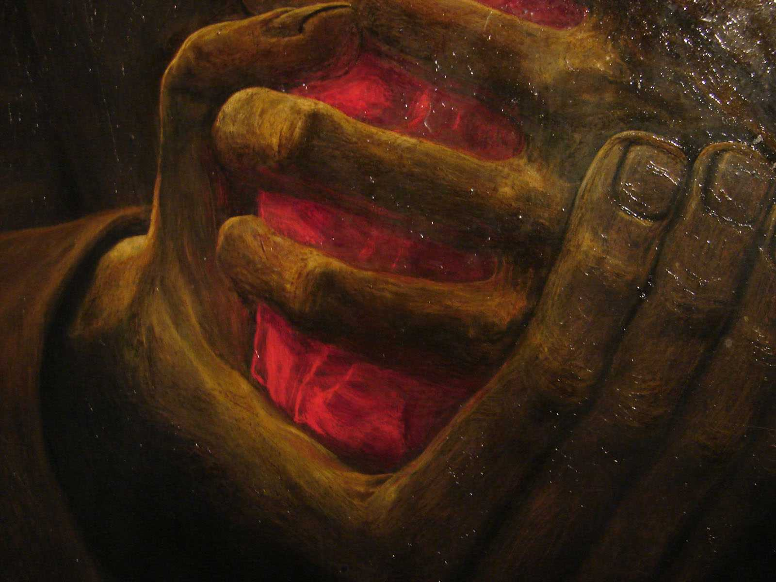 Détail d'une peinture de Zdzislaw Beksinski